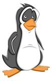 Simple Cartoon Penguin Vector Illustration
