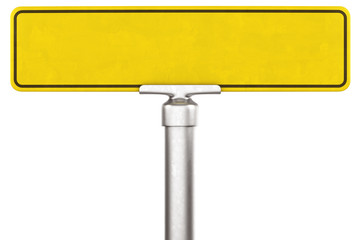 Yellow street sign
