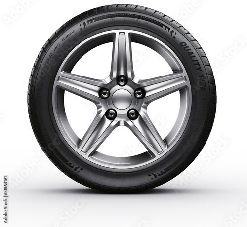 Leinwanddruck Bild Car tire