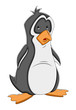 Surprised Cartoon Penguin Vector Illustration