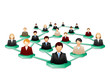 vector illustration of social human networking