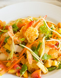 Spicy shrimp salad thai style food