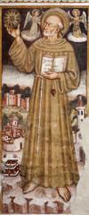 Bergamo - st. Francis from church Michele al pozzo bianco.