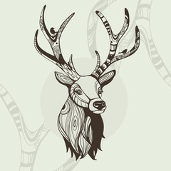 Awsome vector illustration of deer