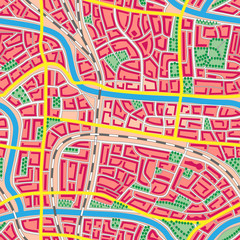 Seamless map unknown city.