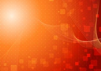 Modern hi-tech background template in orange