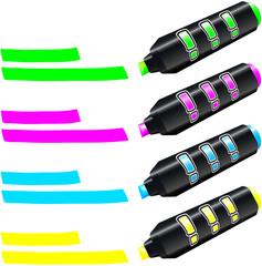 Big Fluorescent Marker ( Leuchtstifte groß )