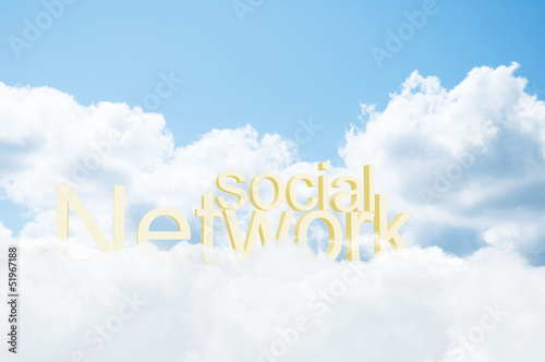 3d word social network in the clouds