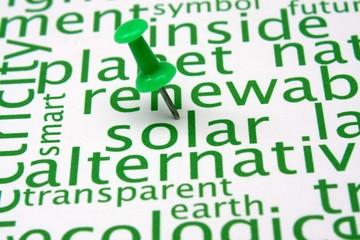 Renewable energy word cloud