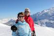 Portrait of senior couple in winter holidays