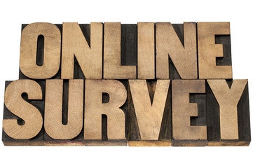 online survey in wood type