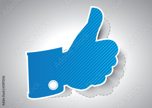 Like symbol / Thumbs up - Vector illustration