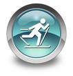 "Light Blue Glossy Pictogram ""Cross-Country Skiing"""
