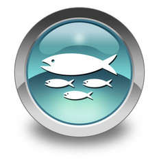 "Light Blue Glossy Pictogram ""Fish Hatchery"""