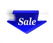 Blue Sale Arrow