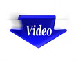 Blue Video Arrow