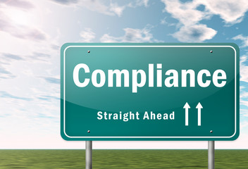 "Highway Signpost ""Compliance"""