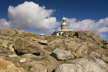 Corrubedo Lighthouse in Galicia Coast