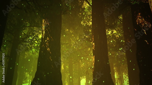 Magic Deep Forest Fairy Tale Scene 3D artwork