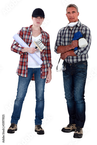 Male and female decorators