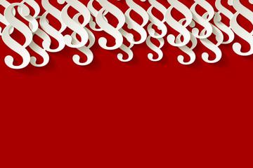Paragraf Papier Hintergrund oben rot