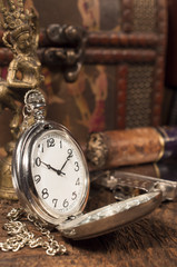 still life with pocket watch