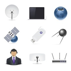 internet connections vector icon set