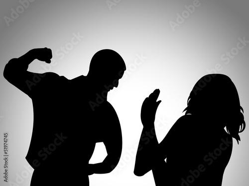 Ilustração - Violência doméstica