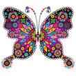 Fantasy vivid vintage butterfly