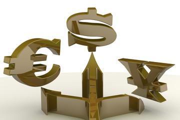 Стрелки и символы валют