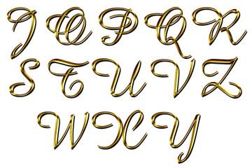 Lettere dorate