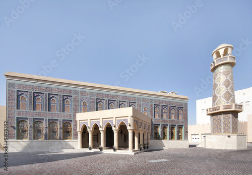 A beautiful ornamented mosque in Katara village, Qatar