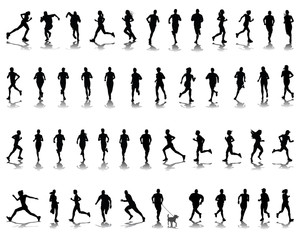 Silhouettes and shadows of running 2-vector