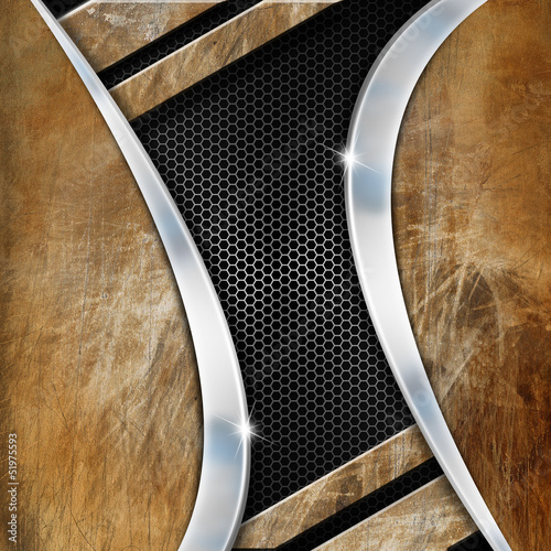 Grunge Metal Geometric Background
