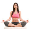 Fitness Woman Sitting In Yoga Posture