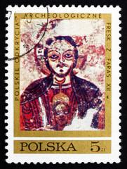Postage stamp Poland 1971 Christ Protecting Nubia