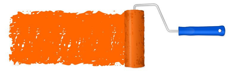 Farbrolle orange