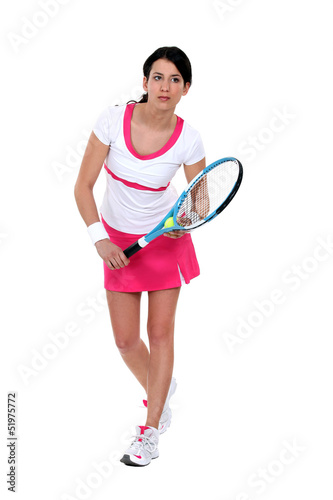 Portrait of a female tennis player