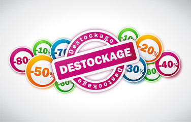 Destockage - Illustration vectorielle