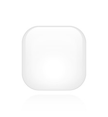 White Glossy Button