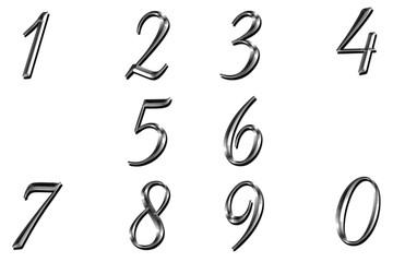 Numeri argentati