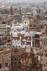 Old Sanaa buildings - traditional Yemen house