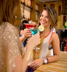 Girl friends having drinks