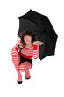 Eccentric woman with umbrella