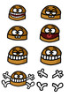 Group of humorous hamburgers