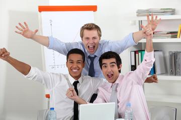 Successful businessmen in office