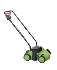 Lawn aerator isolated over white with clipping path.