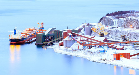 freight mining ship