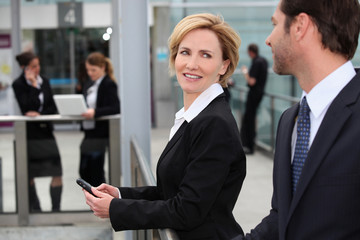Businesswoman at an airport