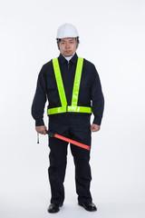 工事現場の警備員